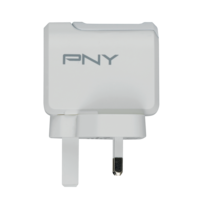 PNY Type-C Charger 2.4A /12W UK Plug, White