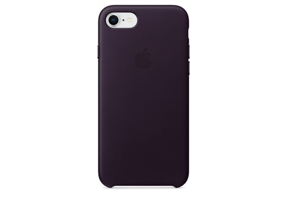 Apple iPhone 8 / 7 Leather Case, Dark Aubergine