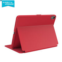 Speck Balance Folio 11 inch iPad Pro Case, Heartrate Red/Heartrate Red