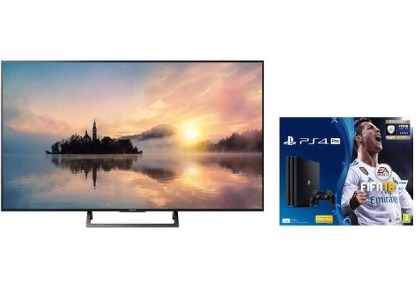Sony 49  KDL49X7000E 4K Ultra HD HDR Smart TV with Sony PS4 Bundle