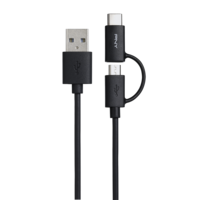 PNY USB A to C 2.0 2in1 1M Black Cable