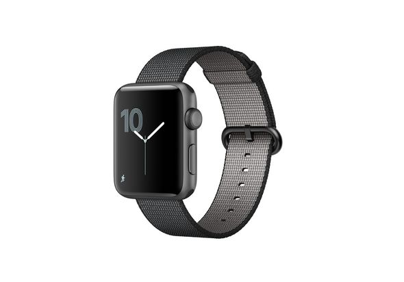 Apple Watch Series 2, 42mm Space Grey Aluminium Case with Black Woven Nylon Band