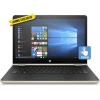 """HP Pavilion x360 14-BA105NE i7 8GB, 1T+ 128 14"""" Laptop, Gold"""