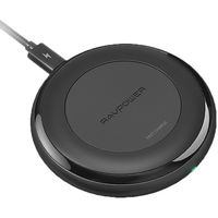 RAVPower Qi Wireless Charger, Black