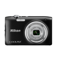 Nikon COOLPIX A100 Digital Compact Camera, Black