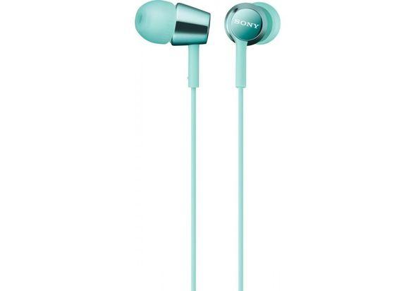 Sony MDREX150 In-ear Headphones, Mint Blue