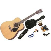 Yamaha F310P Steel String Acoustic Guitar Package - Tobacco Brown Sunburst