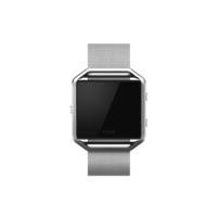 Fitbit Blaze Accessories Leather Band+ Frame Large, Mist Grey
