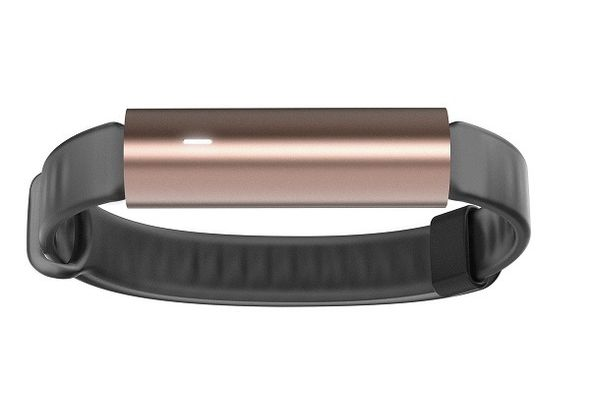 Misfit ray wireless activity tracker black sports band, Rose Gold