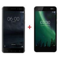 Nokia 6 Matte Black+ Nokia 2 Black