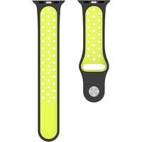 BeHello Premium Apple Watch Silicone Strap 42/44mm, Black/Yellow