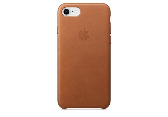 Apple iPhone 8 / 7 Leather Case, Saddle Brown