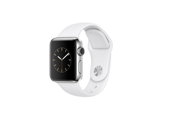 Apple Watch Series 2, 38mm Silver Aluminium Case with White Sport Band