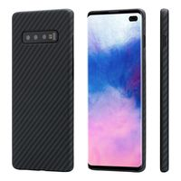 Pitaka MagEZ Case for Samsung Galaxy S10, Black/Grey (Twill)
