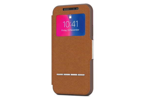 Moshi Sensecover for iPhone X, Caramel Brown