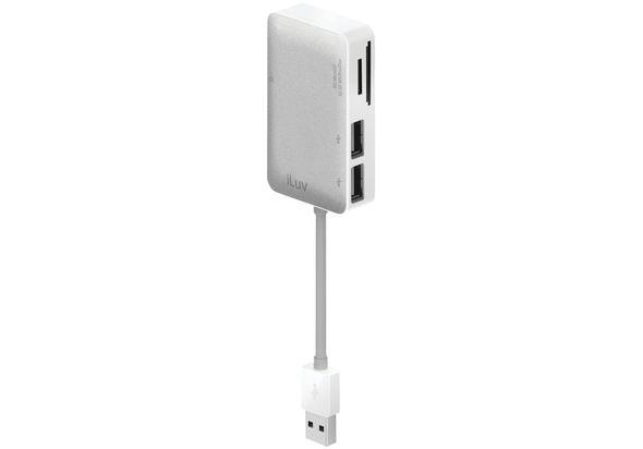 iLuv Card Reader with USB Hub