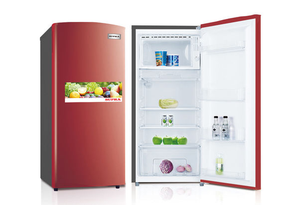 Supra SR185KS-R Door Refrigerator Red