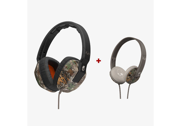 Skullcandy Crusher Headphone, Real Tree. Get Skullcandy Uprock Headphone FREE!