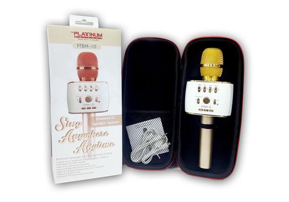 Platinum Karaoke Bluetooth Speaker & Microphone