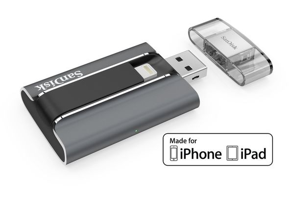 SanDisk iXpand 128GB USB 2.0 Mobile Flash Drive