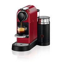 Nespresso CitiZ and Milk Coffee Machine, Cherry Red