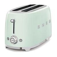 Smeg TSF02PGUK 4 Slice Toaster, Pastel Green