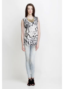 Back Panel Top in Monotexture Print, printed, s
