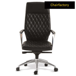 Gustav ZX High Back Leatherette Chair - Black