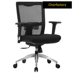 Koss Mid Back ZX Ergonomic Chair with Aluminium Base - Black