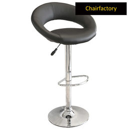 Rinzo Bar Stool With Footrest, dark grey