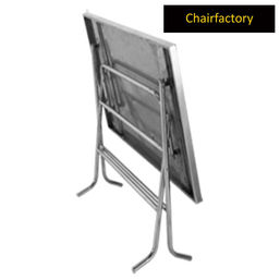 Snow Rectangle Banquet Stainless Steel Foldable Table
