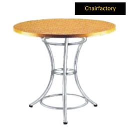 Lima Canteen Wooden Table, 2 -6  diameter laminated top with 3 leg stand base