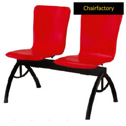 Clado Two Seater Red Bench, black