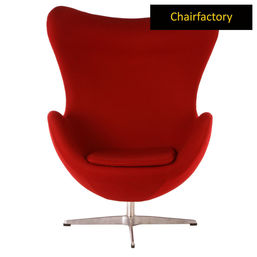 Arne Jacobsen Style Egg Red Chair Replica