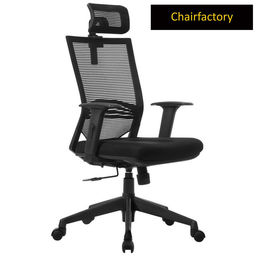 Telsa High Back LX Ergonomic Chair for Meeting Room - Black