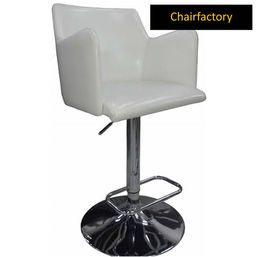 Monaco Contemporary Bar Stool, white