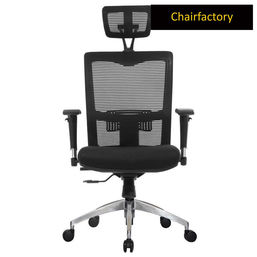 Koss High Back ZX Ergonomic Chair with Aluminium Base - Black
