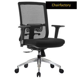Trubo Mid Back ZX Ergonomic Chair for Managers - Black