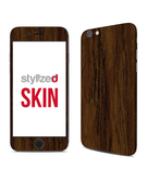 Stylizedd Premium Vinyl Skin Decal Body Wrap for Apple iPhone 6S - Wood Marine Teak