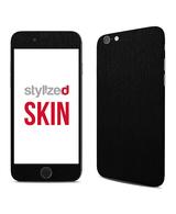 Stylizedd Premium Vinyl Skin Decal Body Wrap for Apple iPhone 6Plus - Brushed Black Metallic