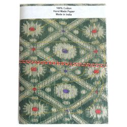 Handmade Paper Travel Diary with Brocade Cover - CGHMD00029, 6  x 8