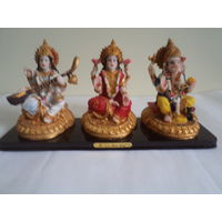 3 idols-Goddess Saraswati, Mahalakshmi and Lord Ganesh