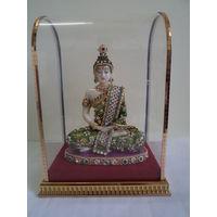 Lord Buddha in a glass box