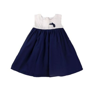 Summer Frocks-Navy and White Dress, navy and white, 18-24months