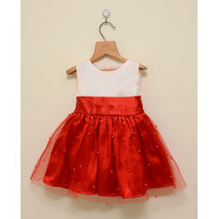 Red and White Party Frock, 0-6months, red & white
