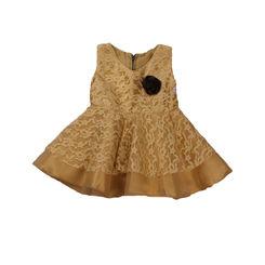 party dress - Princess cut Sandal lace dress with maroon corsage, 0-6months, sandal