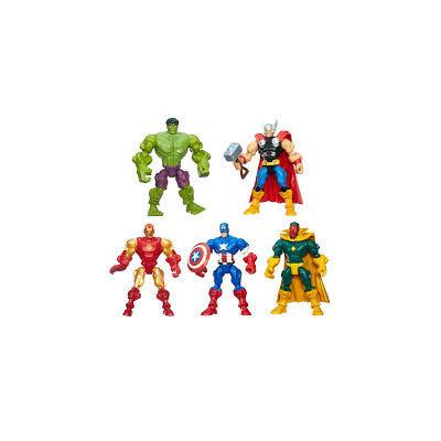 Hot 6pcs/sets The Avengers 5 Captain America Wolverine Thor Spiderman Batman Action Figures Toys Boy children dolls superhero