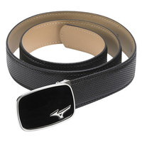 Mizuno Men's Digital Leather Belt - Black, free size,  black