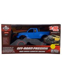 HUANGBO Off-Road RC Car 4-Channel, Black and Blue