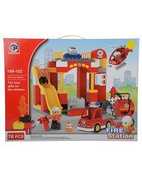 KIDS HOME TOYS Fire Station Building Blocks